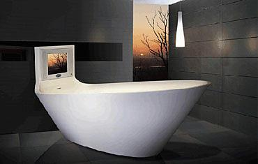Bath tub with built in TV