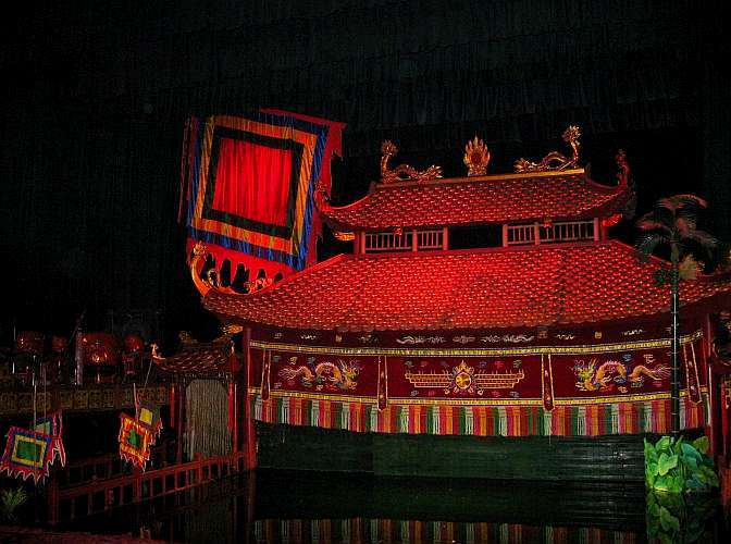 Hanoi water puppet stage