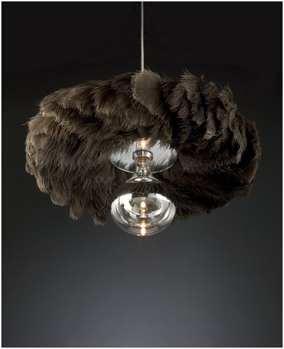 Quasar has an LED fixture of black ostrich feathers, which may not be everyone's cup of tea – but it does add a sensuous and glamorous look to the lighting not achievable by other means. It may double as a high end feather duster in a pinch!