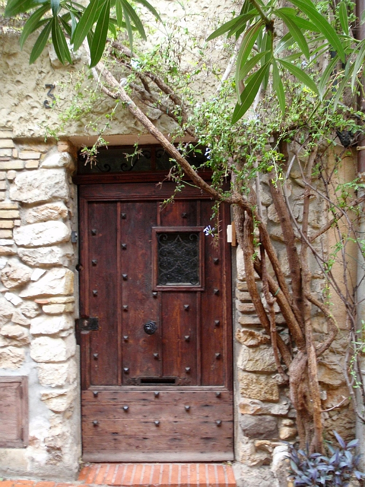 Door of House in Antibes' Commune Libre du Safranier