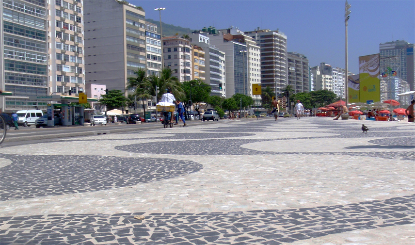 Copa Beach sidewalk in Rio
