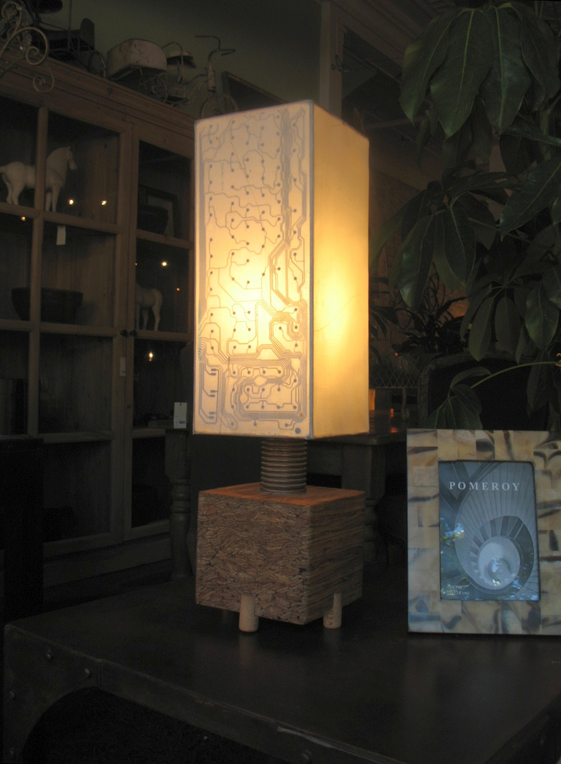 Recycled Circuit Board Table Lamp
