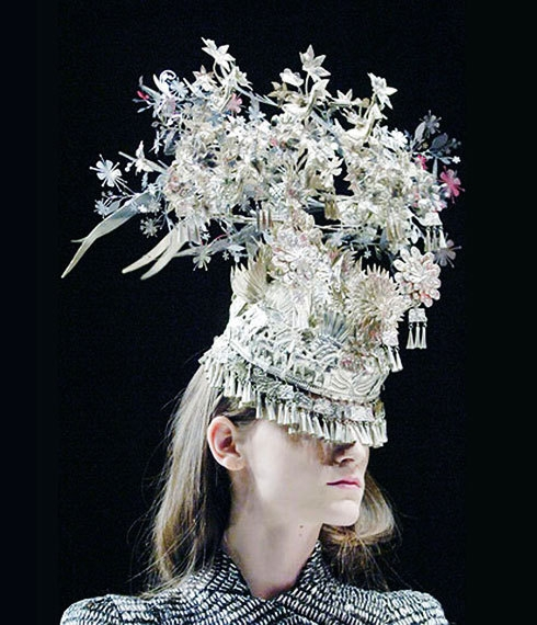 Headdress made from Garland Lights