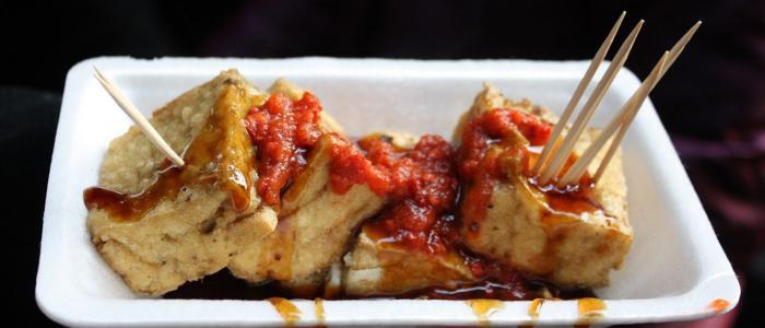 Plate of Stinky Tofu