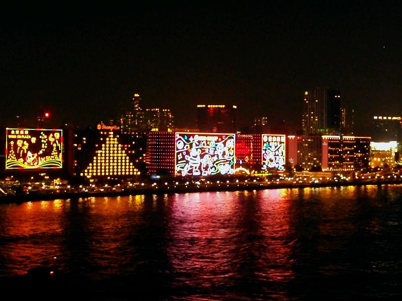 Hong Kong X'mas Night Scene