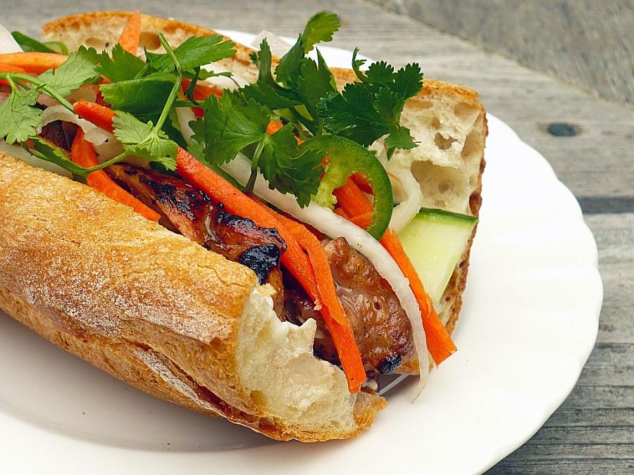 Banh mi, the Vietnamese baguette sandwich