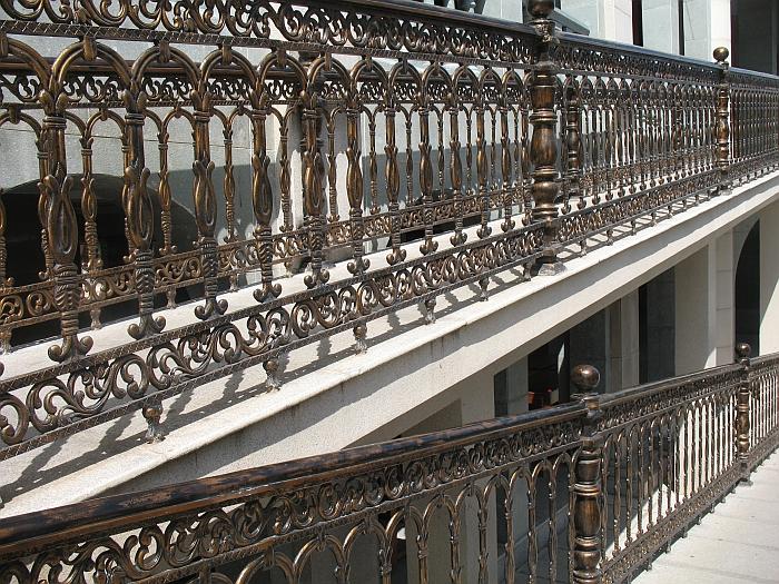 Ornate church railing