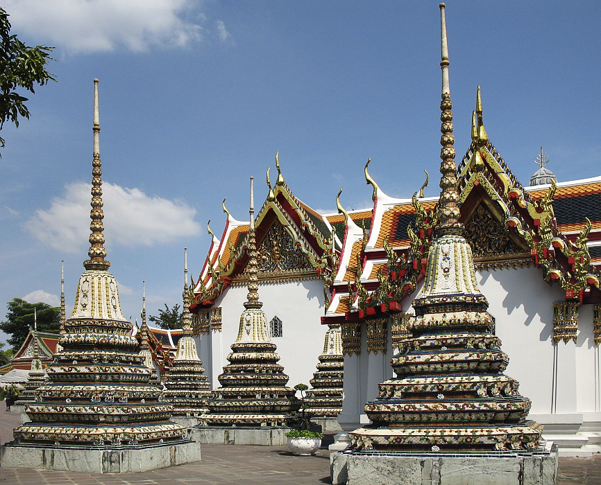 Temple mounds in Wat Pho