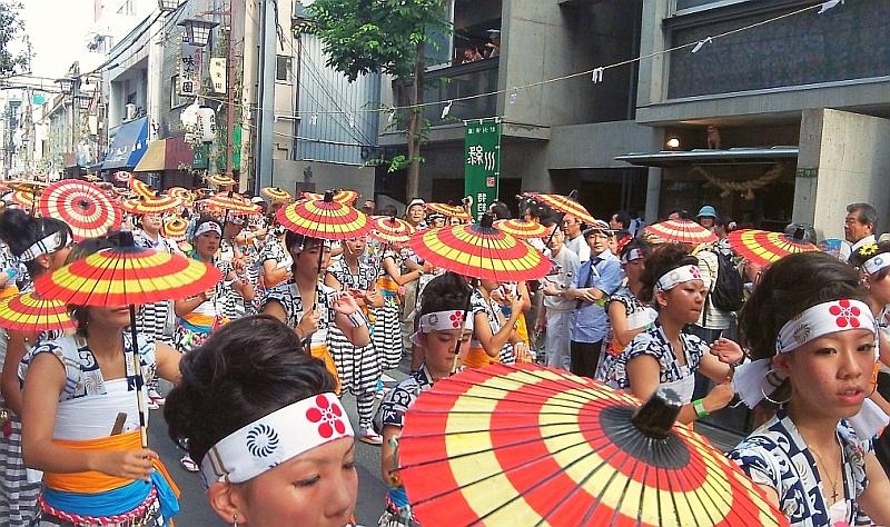 Tenjin Matsuri festival Umbrella Dance