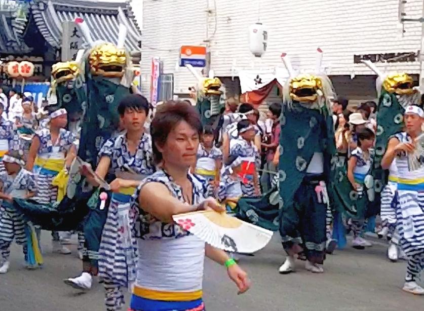 Tenjiin Matsuri Lion Dance