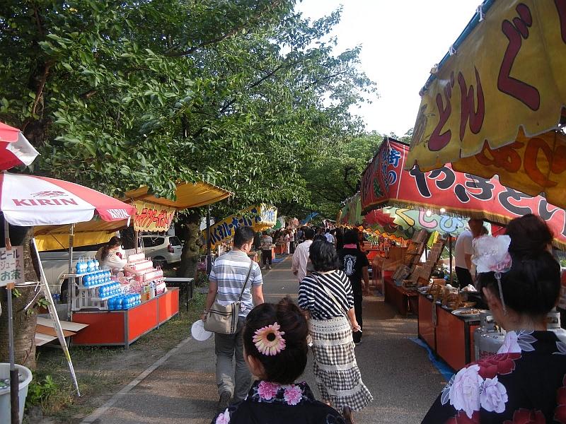 Tenjin Matsuri festival stalls