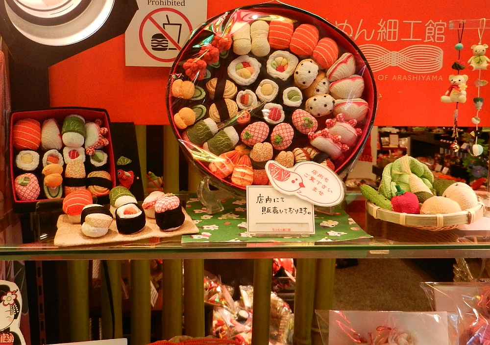 Window display of model foods