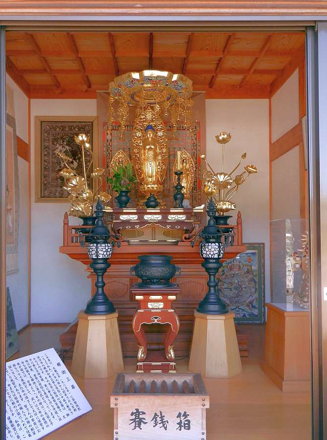 Shrine with golden Buddha
