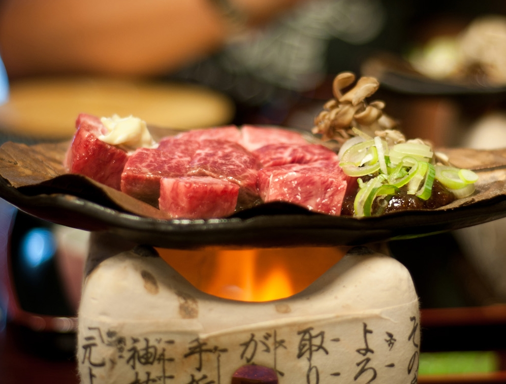 Hida beef on brazier