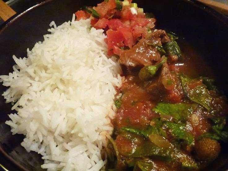 Romazava, a Malagasy beef stew.
