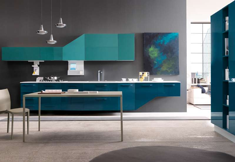A kitchen designed to accommodate digital gadgets