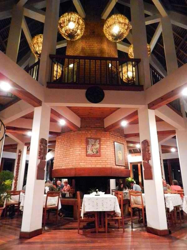 Dining room at Vakona Lodge