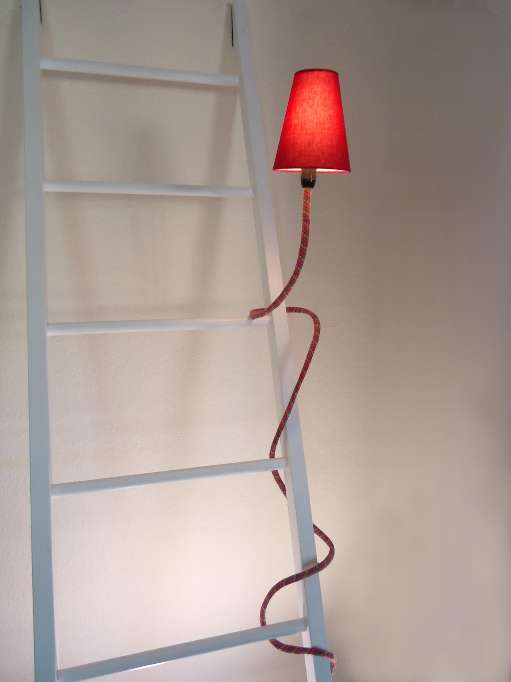 Lighting Fixture on a ladder