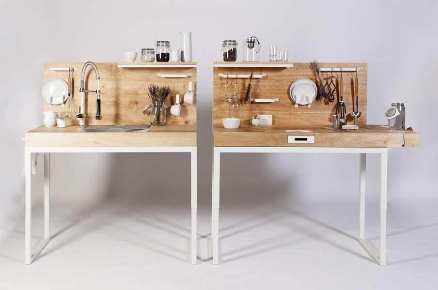 Modular kitchen to help the elderly and physically challenged