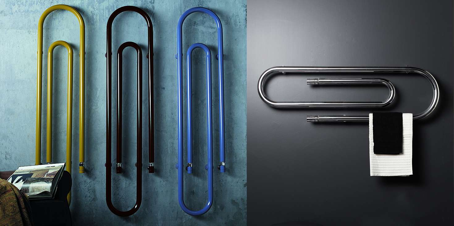 Radiator in shape of colorful paper clips