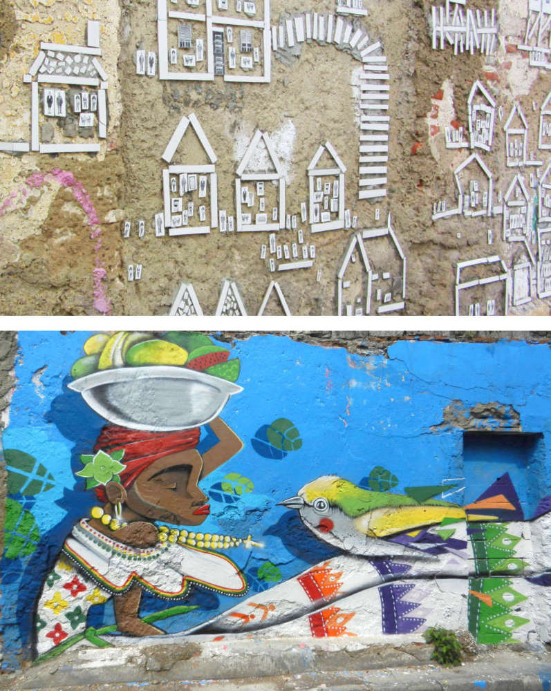 More samples of street art from the graffiti festival in Cartagena