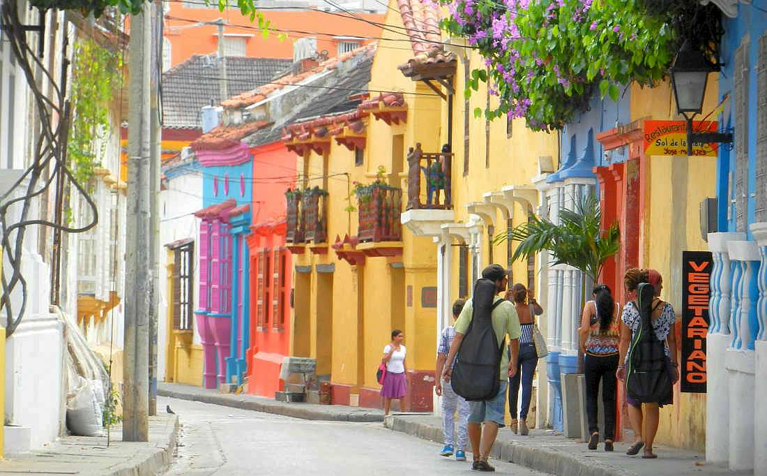 The barrio of San Diego is another Cartagena district bursting with vibrant colors