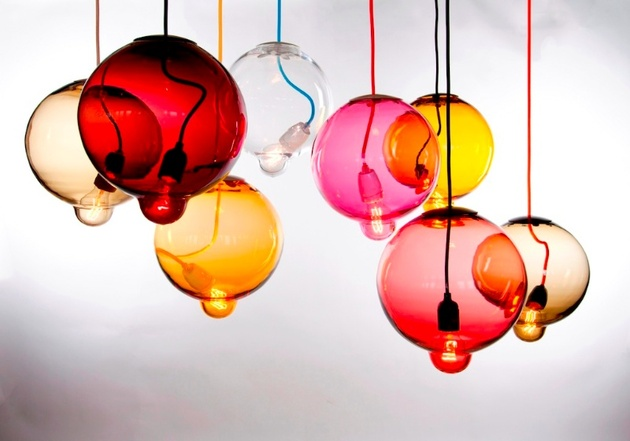 Colorful pendant light fixtures