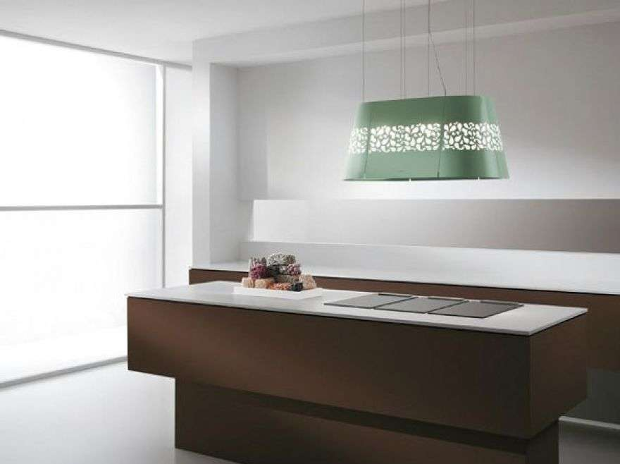 Decorative oval range hood
