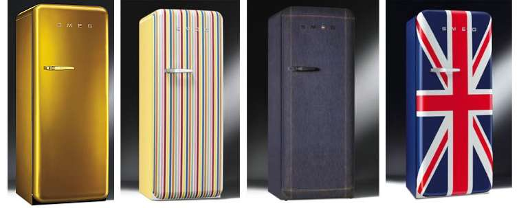 Colorful fridges from Smeg