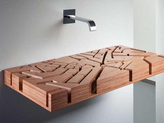 A wood sink