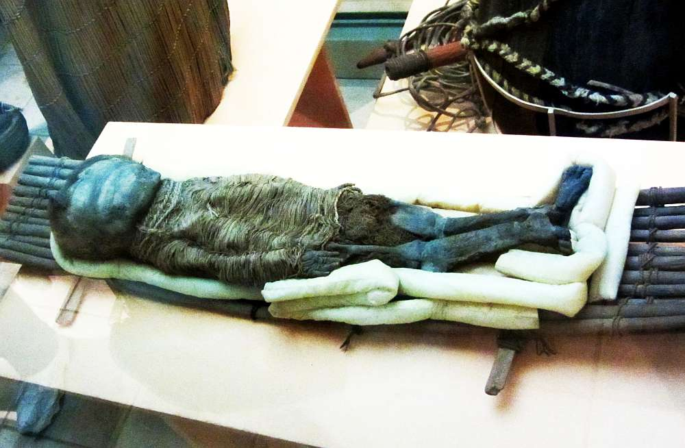 A Chinchorro mummy in the San Miguel de Azapa Archaeological Museum