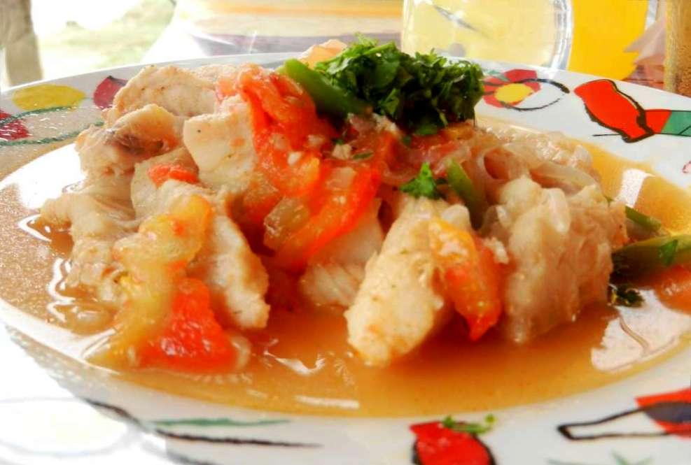 Plate of Ecuadorian fish soup