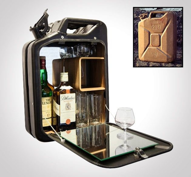 Jerry can recycled into a portable bar