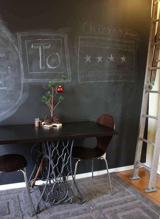 Dining table base from repurposed sewing machine treadle