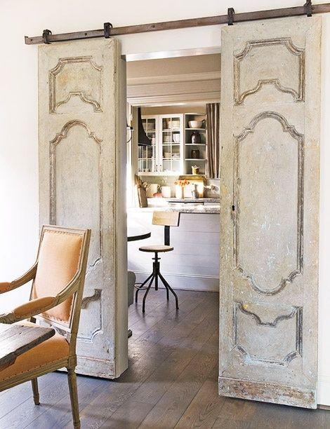 Salvaged antique doors