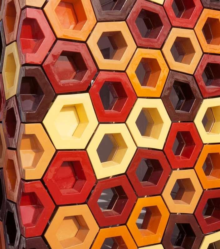 3D-printed ceramic tiles