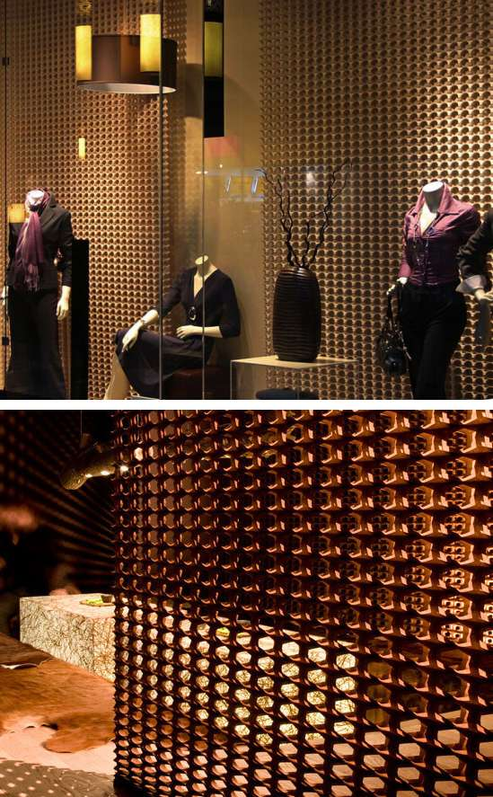 3D fabric system that can be used as decorative panels