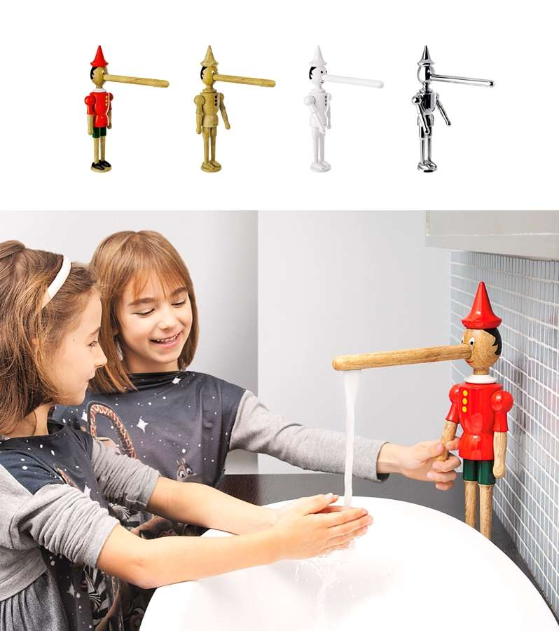 Faucet in shape of Pinocchio