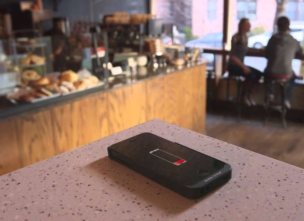 Wireless charging counter material