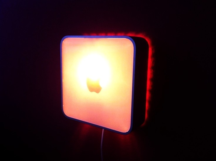 Mac Mini is upcycled into a wall lamp