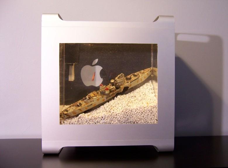 Mac Pro G5 Case upcycled into a Macquarium