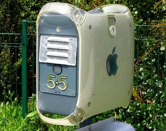 Power Mac G4 upcycled into a mail box