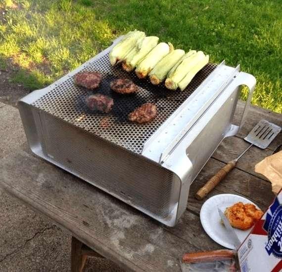 Power Mac G5 repurposed into a hibachi grill