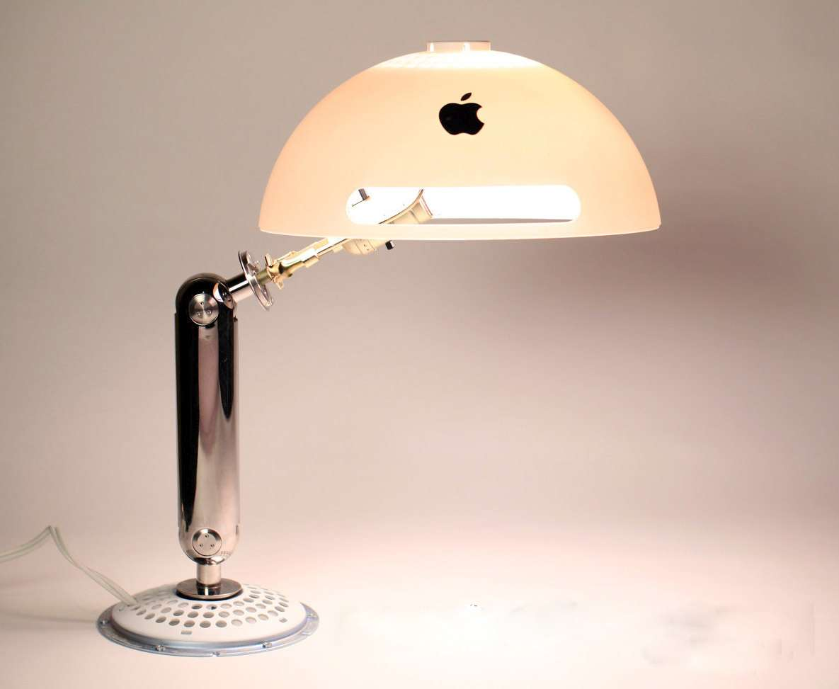 Upcycled iMac G4 desk lamp