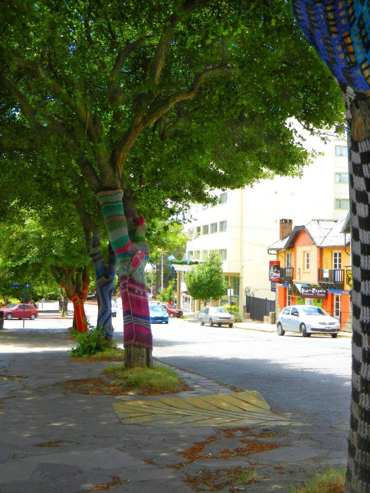 Decorative covers around Bariloche trees