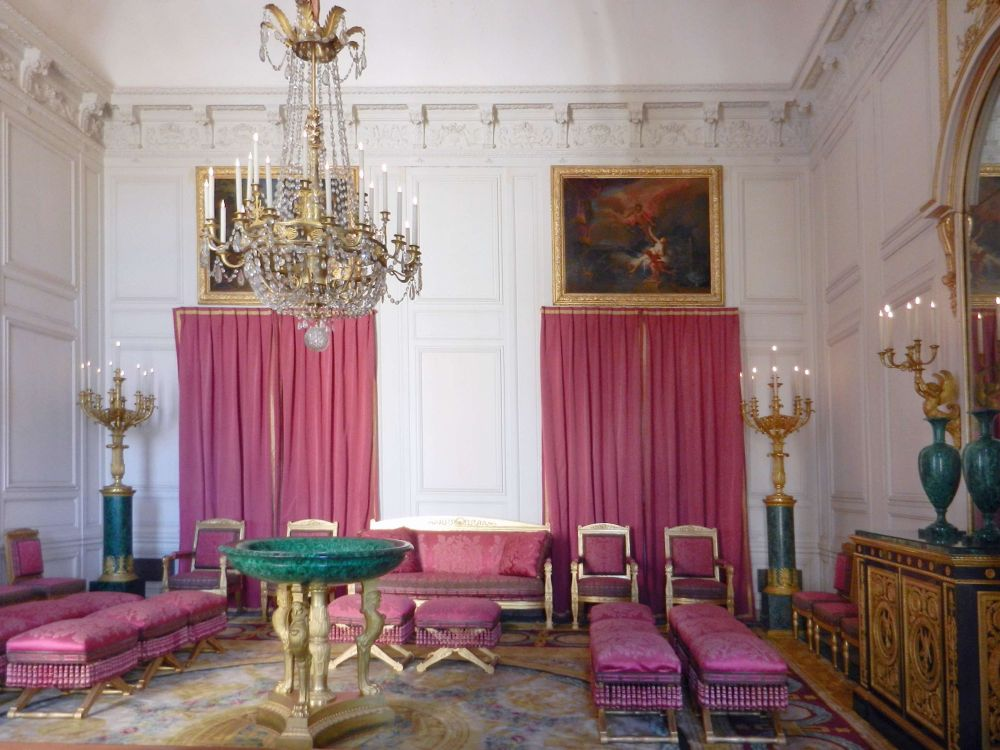 The Malachite Salon used by Napoleon as his State Drawing Room in Grand Trianon