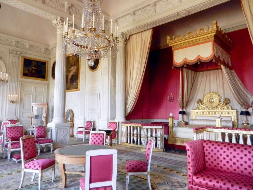 Antechamber and bedchamber of Empress Marie Louise in Grand Trianon, Versailles.