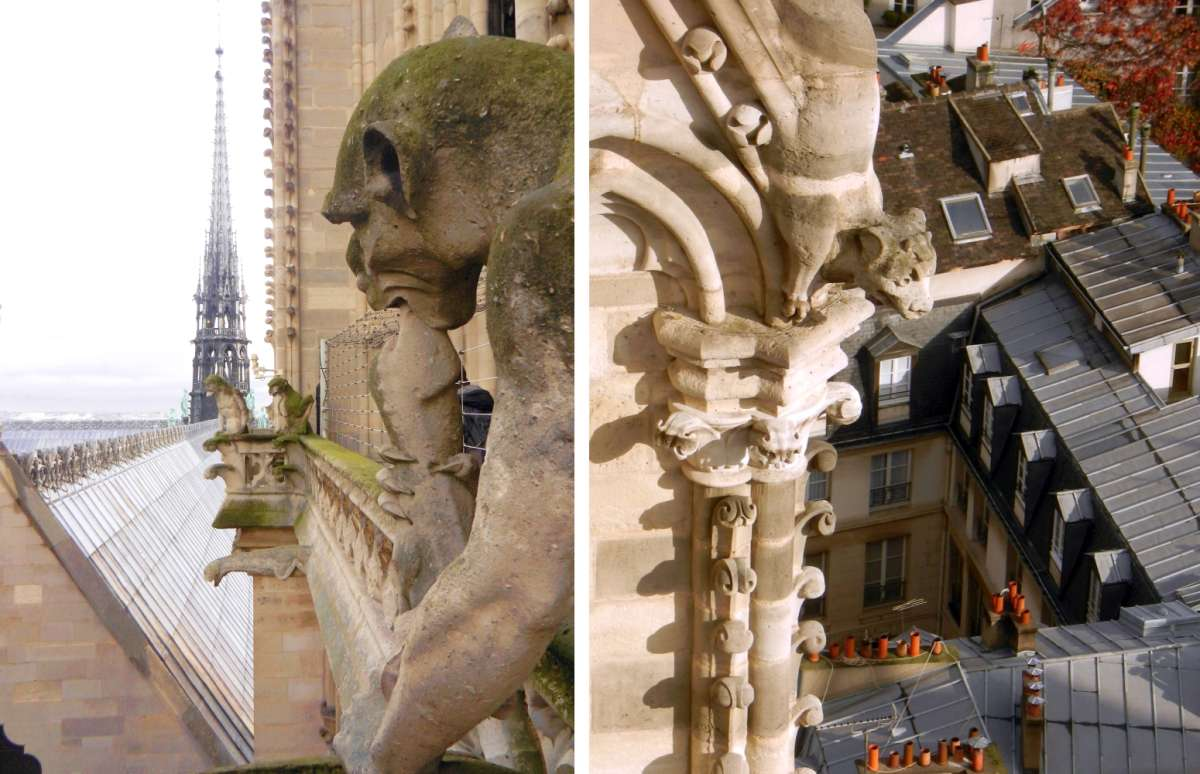 Two more gargoyles from the Chimera Gallery of Notre Dame