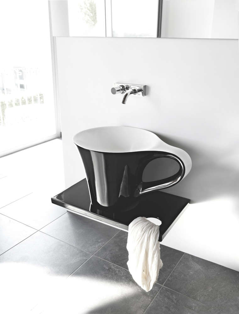 A counter top version of the coffee cup wash basin