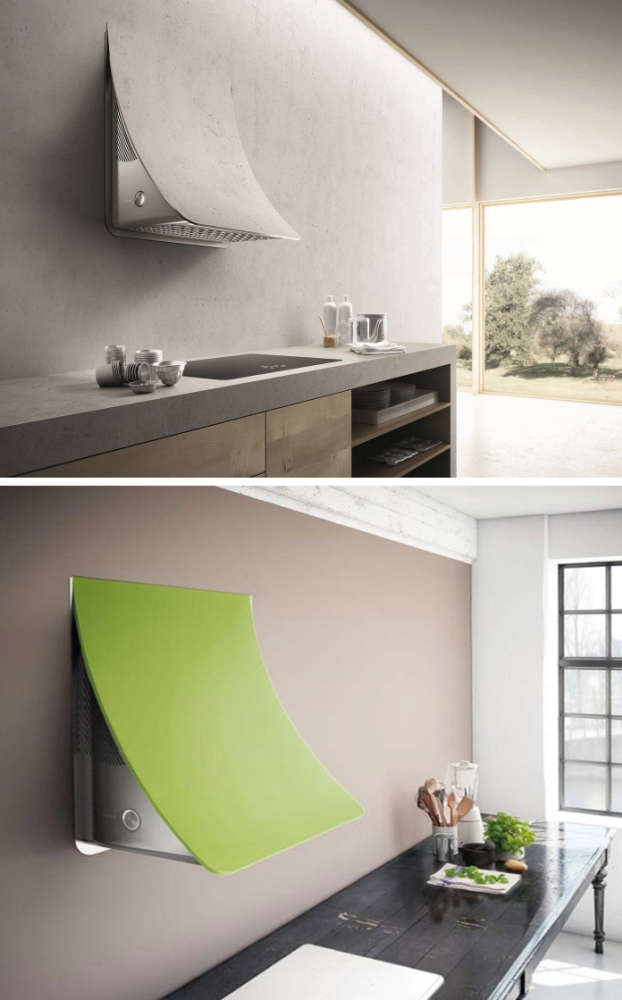 A wall exhaust hood that can be finished with paint, tiles or plaster